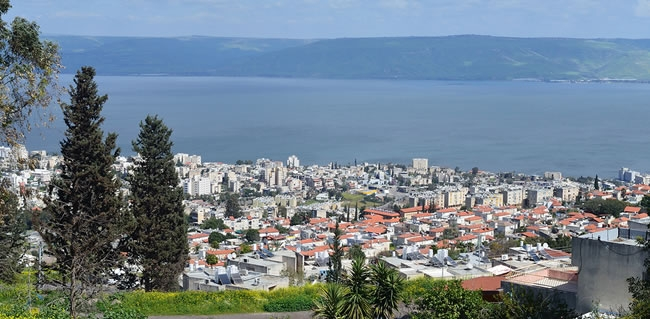 Travel to Israel and visit Tiberias and surrounding Lake Kinneret area