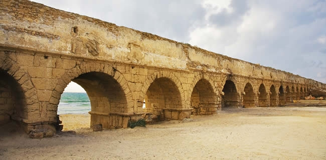 Jewish tours to Israel with Caesarea on trip itineraries